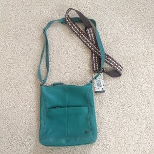 NWT Teal/ Turquoise Leather The Sack Bag (Lucia)